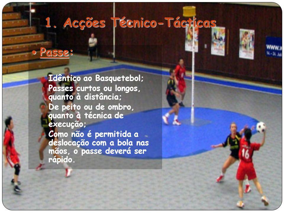 1. Acções Técnico-Tácticas