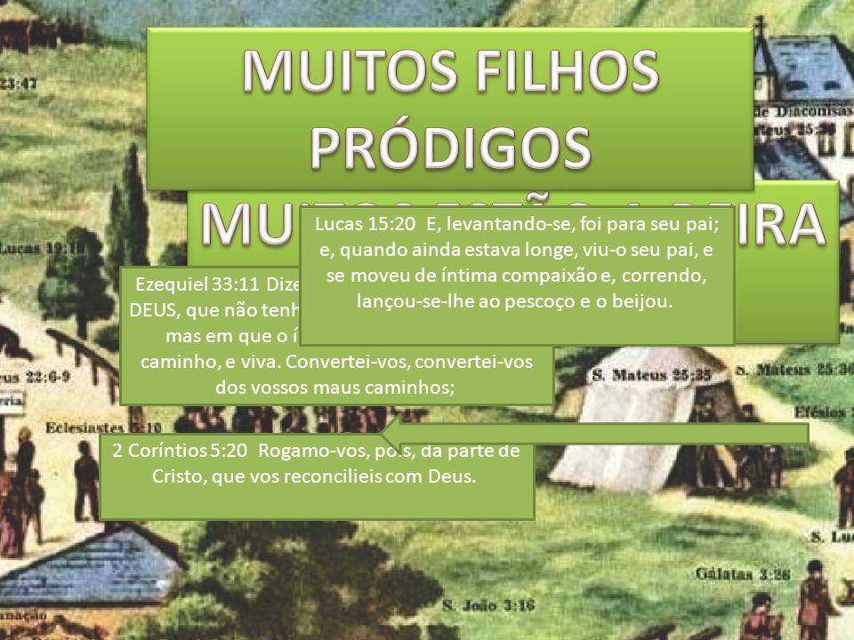 MUITOS FILHOS PRÓDIGOS MUITOS ESTÃO A BEIRA DO CAMINHO.