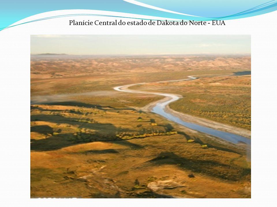 Planície Central do estado de Dakota do Norte - EUA