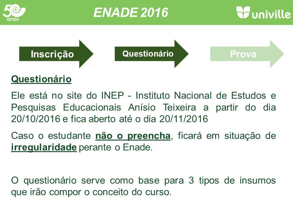 ENADE 2016 Questionário.