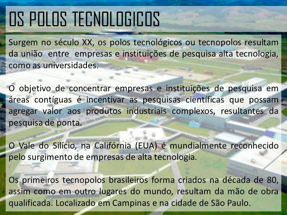 OS POLOS TECNOLOGICOS