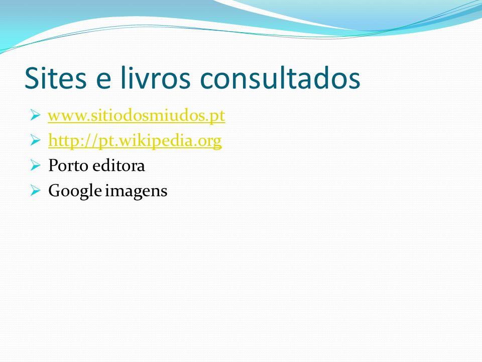 Sites e livros consultados