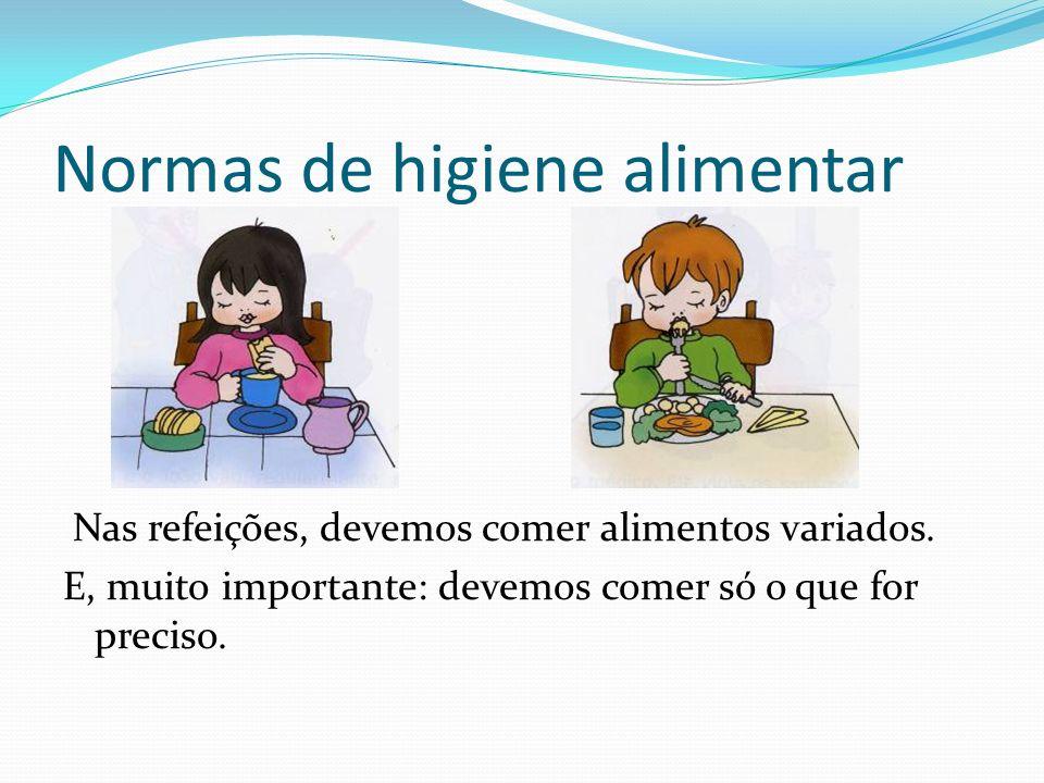 Normas de higiene alimentar