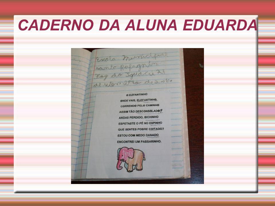 CADERNO DA ALUNA EDUARDA