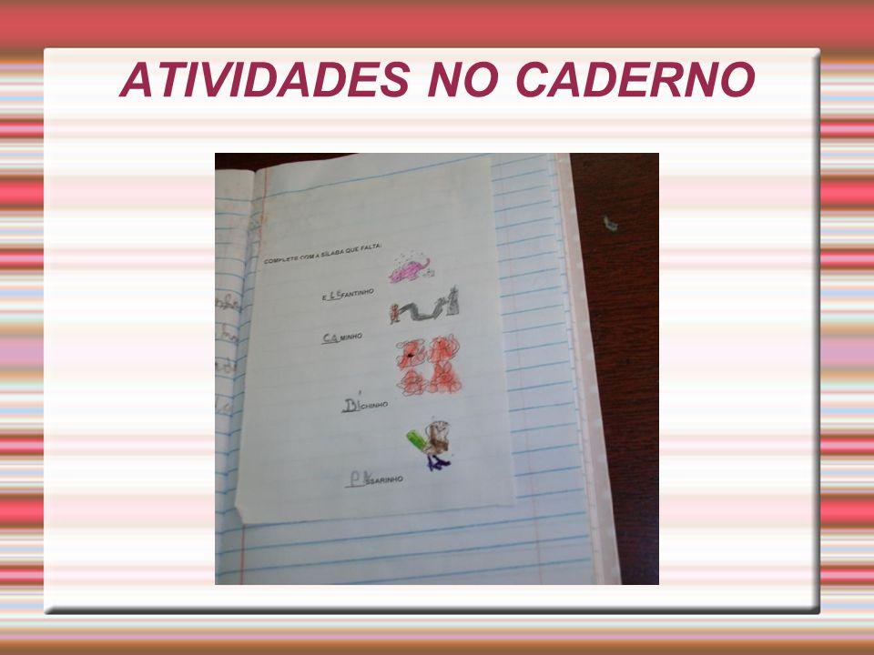 ATIVIDADES NO CADERNO