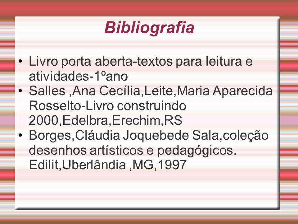 Bibliografia Livro porta aberta-textos para leitura e atividades-1ºano