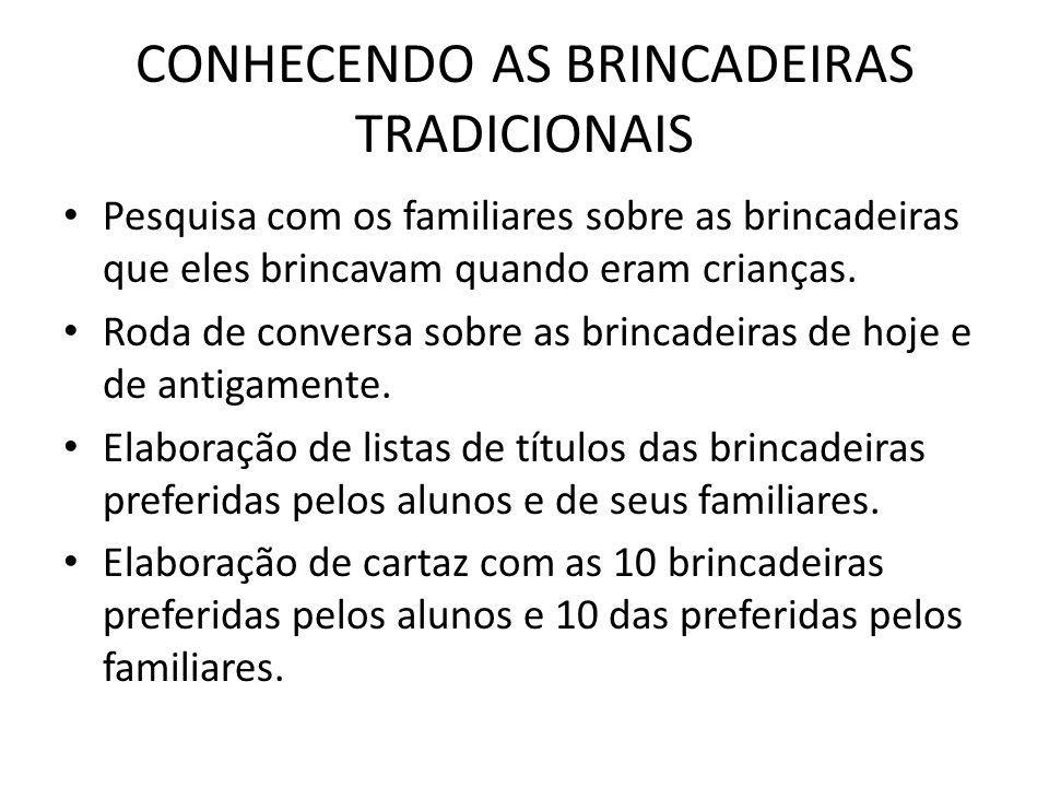 CONHECENDO AS BRINCADEIRAS TRADICIONAIS