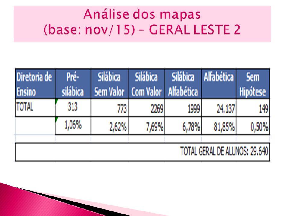 Análise dos mapas (base: nov/15) – GERAL LESTE 2