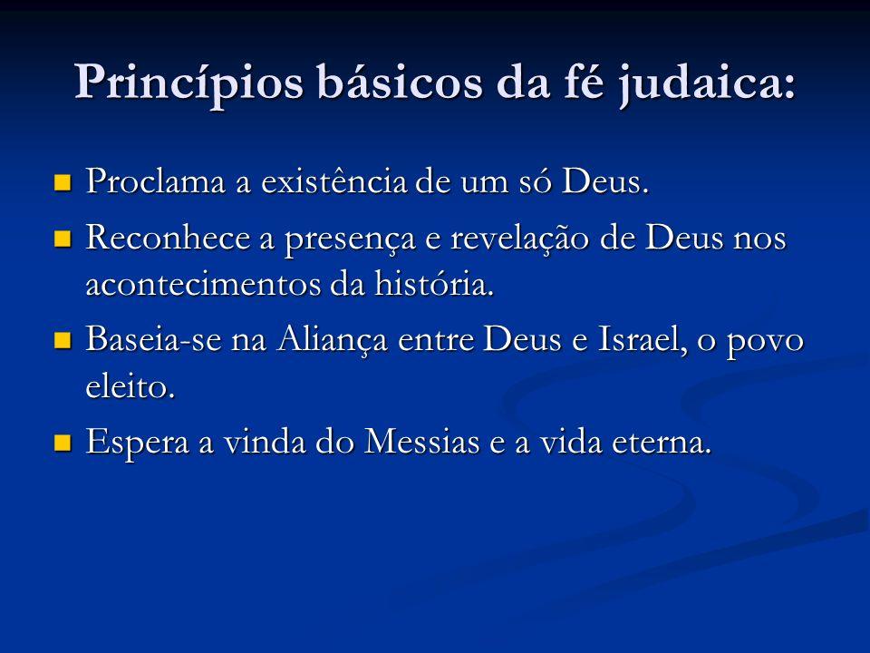 Princípios básicos da fé judaica: