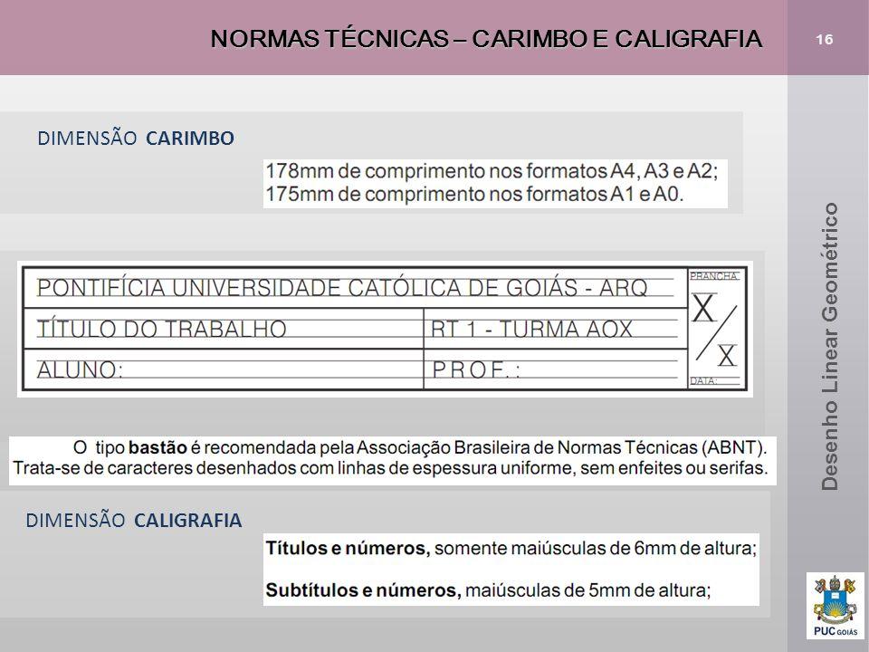 NORMAS TÉCNICAS – CARIMBO E CALIGRAFIA