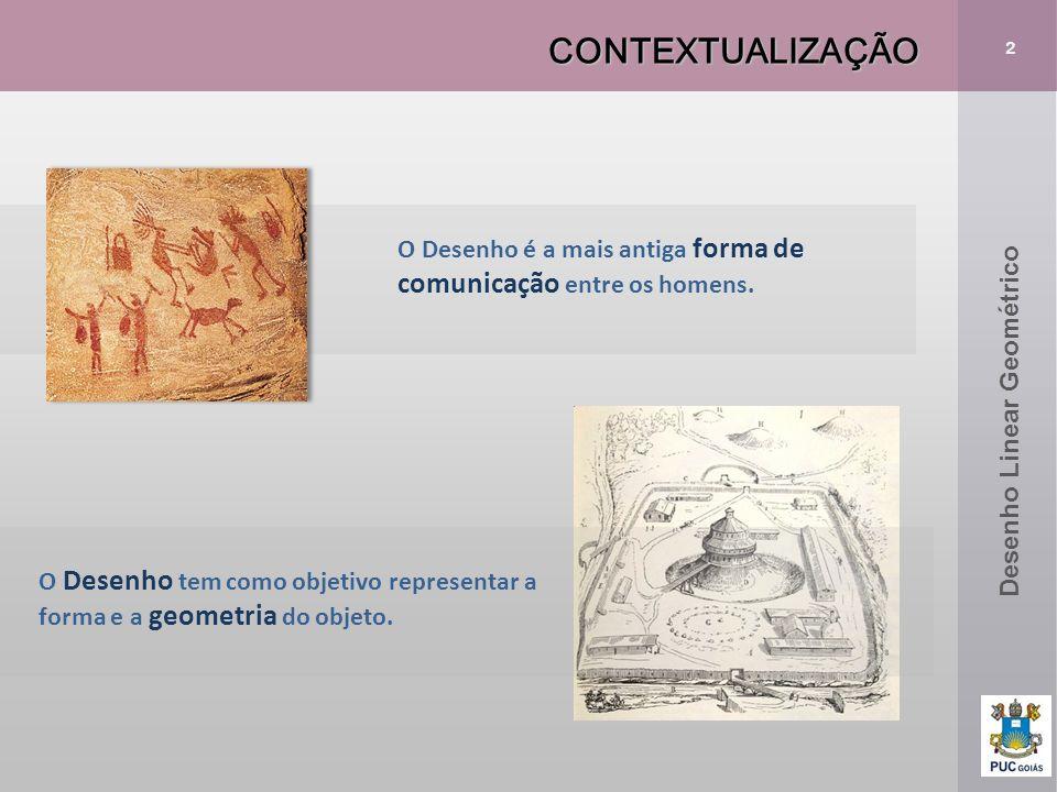 CONTEXTUALIZAÇÃO 2. O Desenho é a mais antiga forma de comunicação entre os homens. Desenho Linear Geométrico.