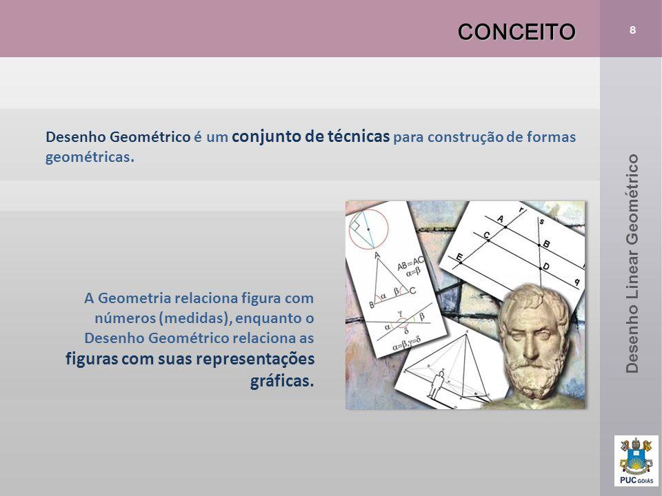 CONCEITO 8. Desenho Geométrico é um conjunto de técnicas para construção de formas geométricas. Desenho Linear Geométrico.