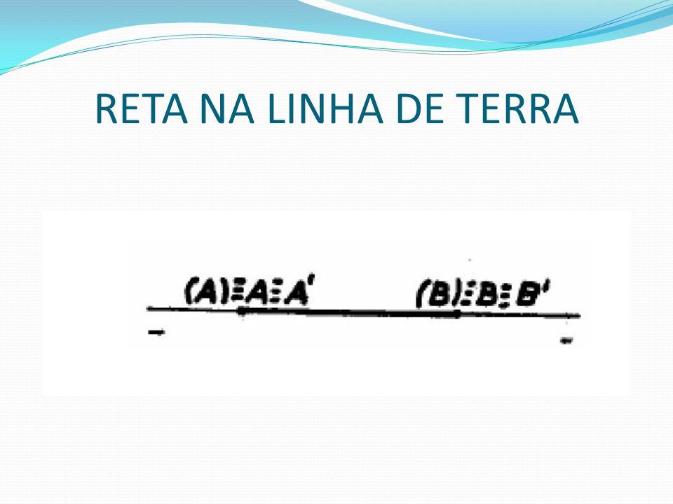 RETA NA LINHA DE TERRA