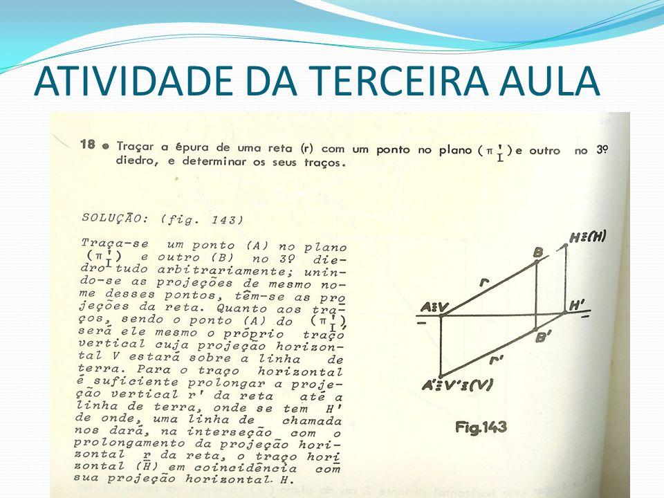 ATIVIDADE DA TERCEIRA AULA