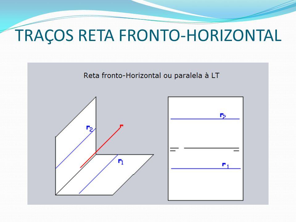 TRAÇOS RETA FRONTO-HORIZONTAL