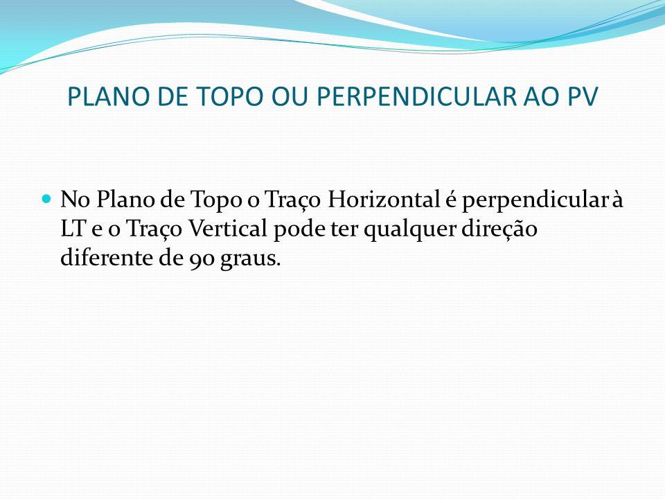 PLANO DE TOPO OU PERPENDICULAR AO PV