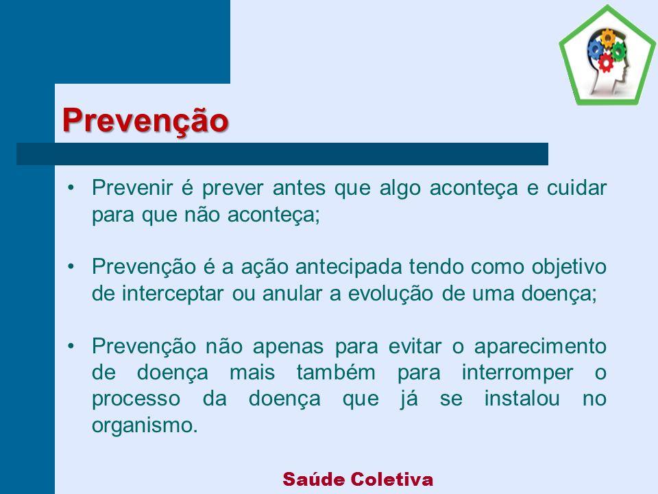 Prevenção Prevenir é prever antes que algo aconteça e cuidar para que não aconteça;