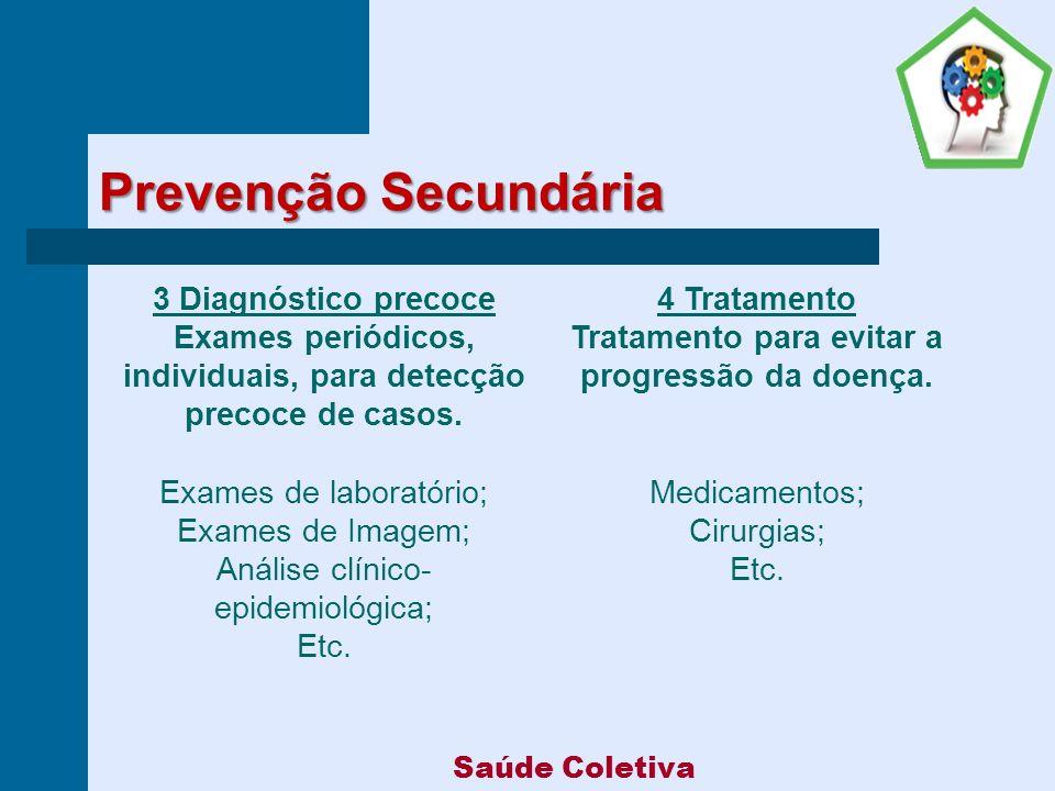 Prevenção Secundária 3 Diagnóstico precoce 4 Tratamento