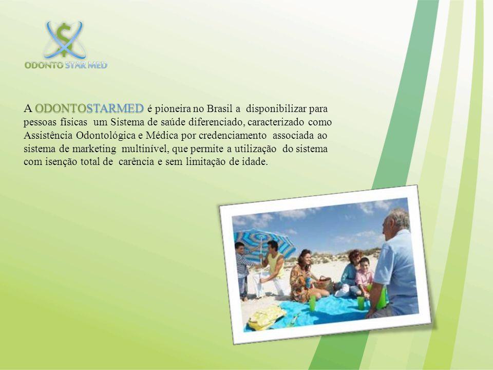 A ODONTOSTARMED é pioneira no Brasil a disponibilizar para pessoas físicas um Sistema de saúde diferenciado, caracterizado como Assistência Odontológica e Médica por credenciamento associada ao sistema de marketing multinível, que permite a utilização do sistema com isenção total de carência e sem limitação de idade.