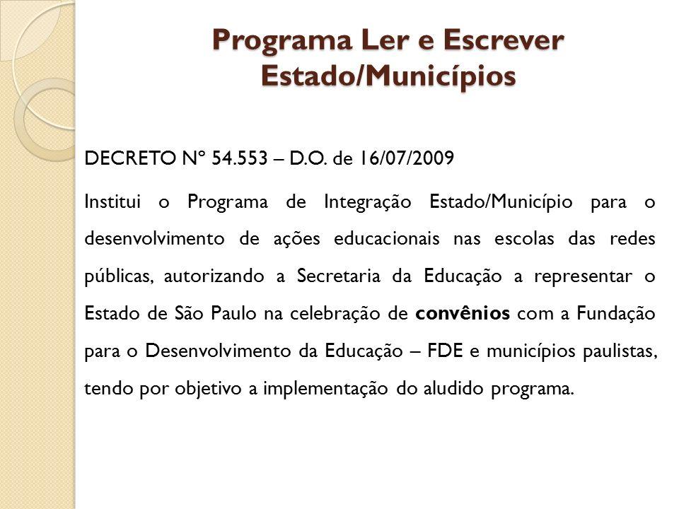 Programa Ler e Escrever Estado/Municípios