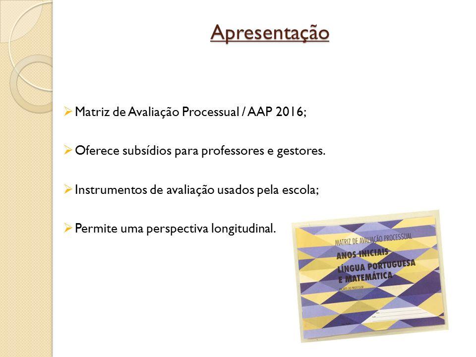 Apresentação Matriz de Avaliação Processual / AAP 2016;