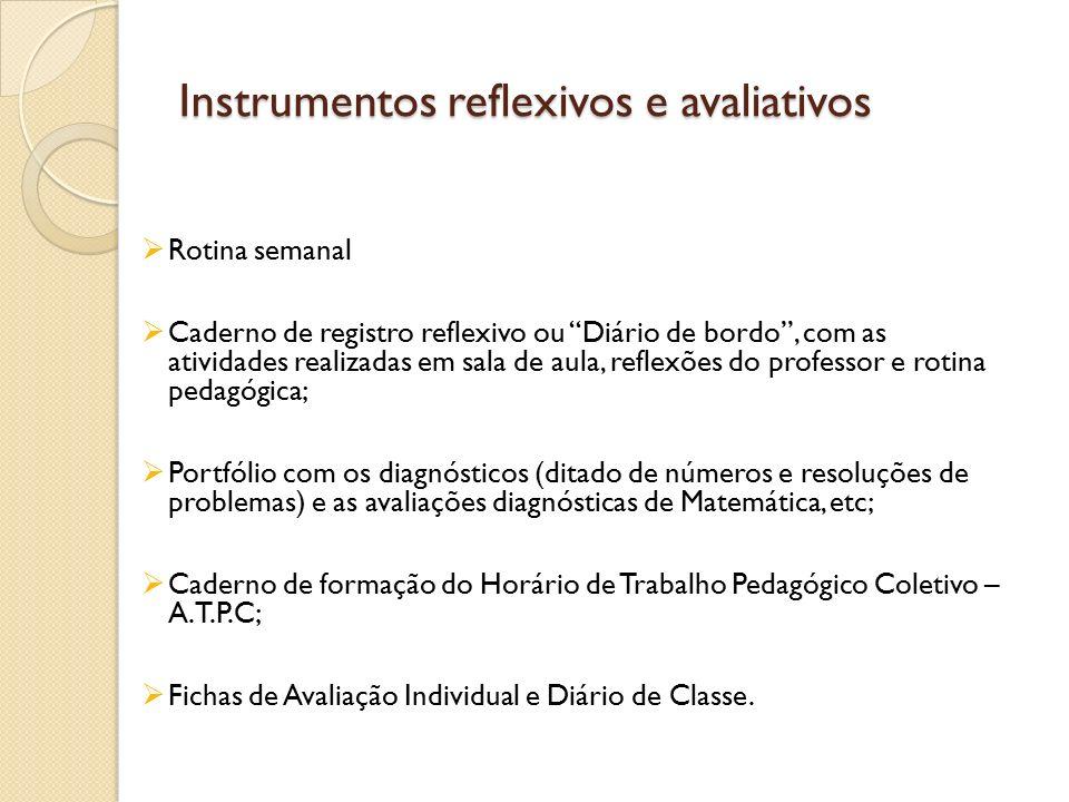 Instrumentos reflexivos e avaliativos