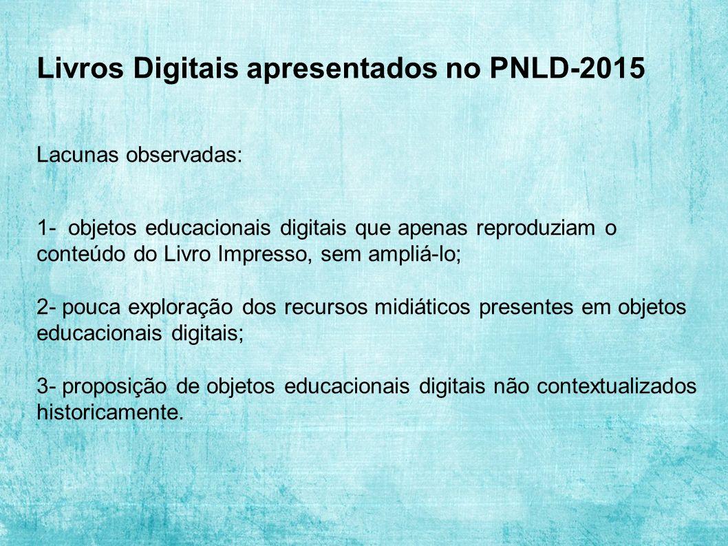 Livros Digitais apresentados no PNLD-2015