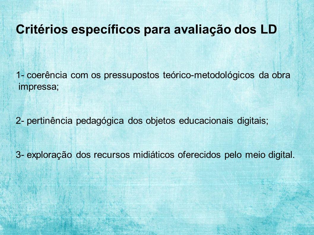Critérios específicos para avaliação dos LD