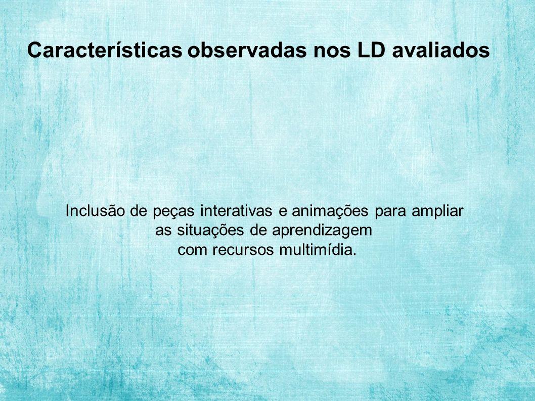 Características observadas nos LD avaliados