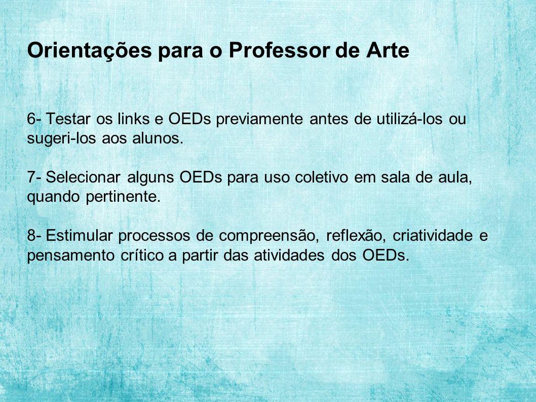 Orientações para o Professor de Arte