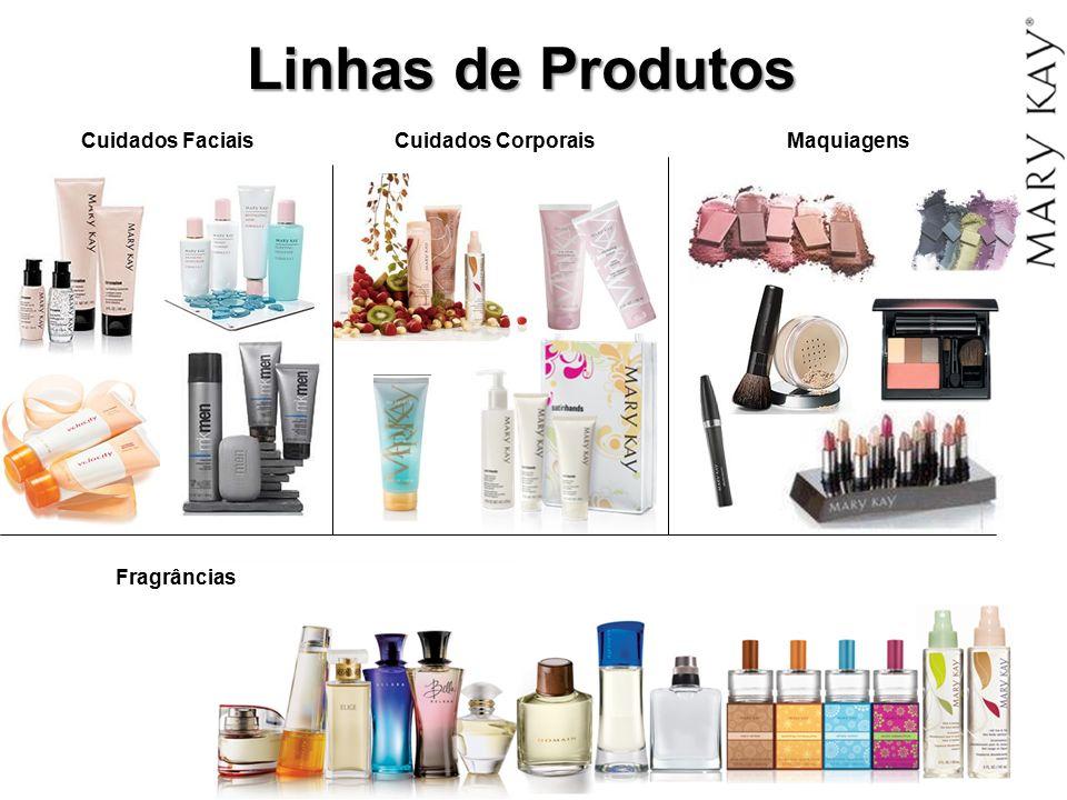Linhas de Produtos Cuidados Faciais Cuidados Corporais Maquiagens