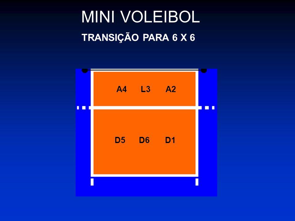 MINI VOLEIBOL TRANSIÇÃO PARA 6 X 6 A4 L3 A2 D5 D6 D1