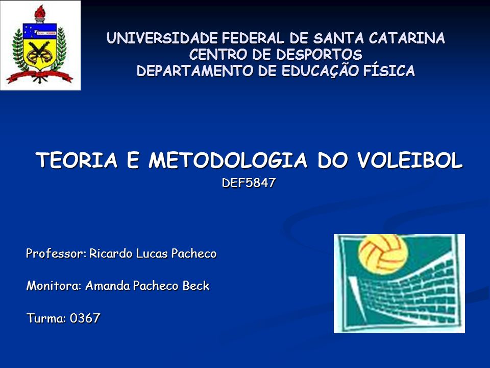 9f67ded252 TEORIA E METODOLOGIA DO VOLEIBOL - ppt video online carregar