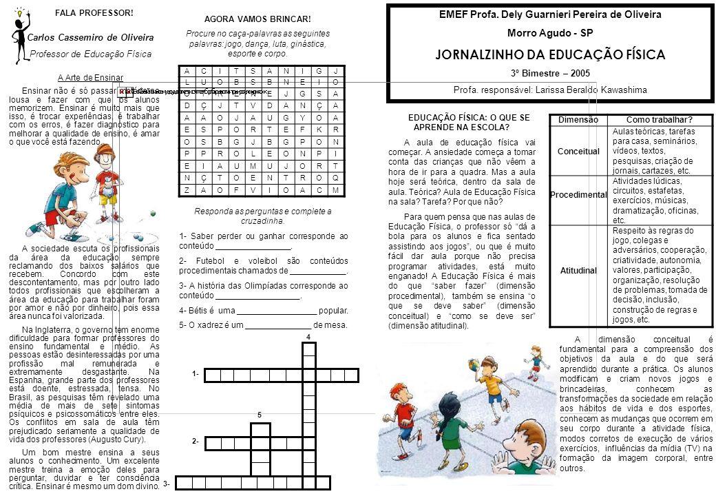 JORNALZINHO DA EDUCAÇÃO FÍSICA