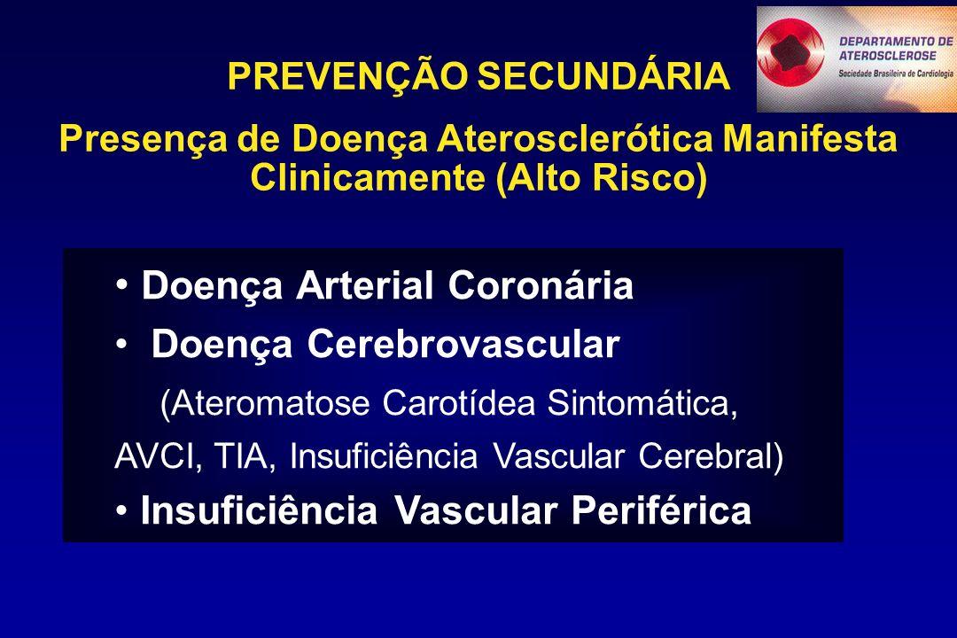 Presença de Doença Aterosclerótica Manifesta Clinicamente (Alto Risco)