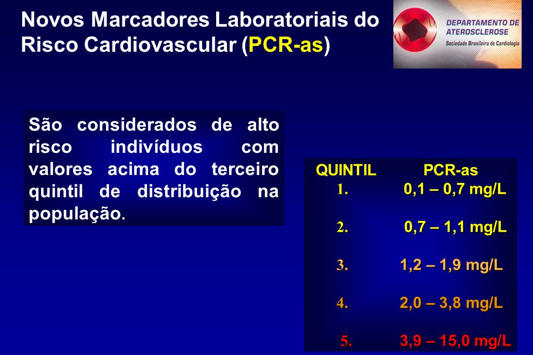 Novos Marcadores Laboratoriais do Risco Cardiovascular (PCR-as)
