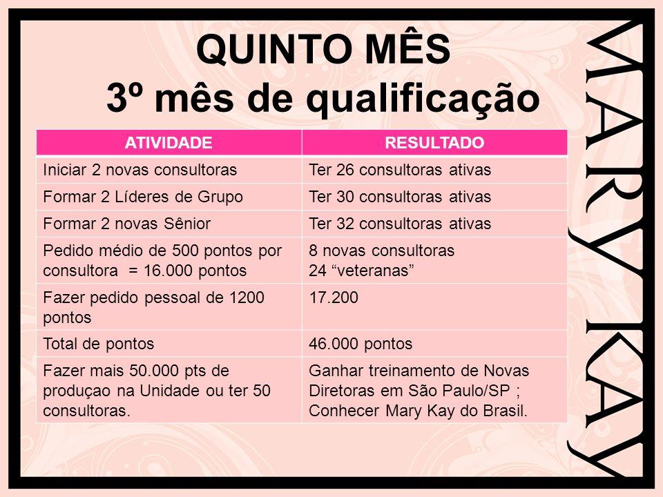 QUINTO MÊS 3º mês de qualificação