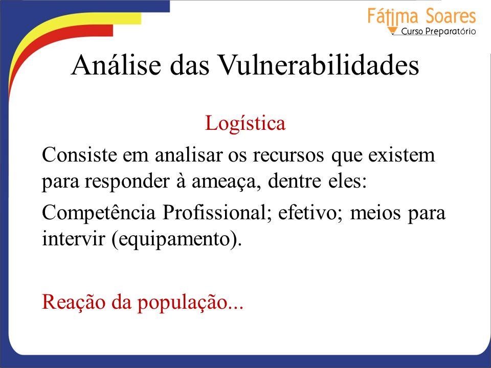 Análise das Vulnerabilidades