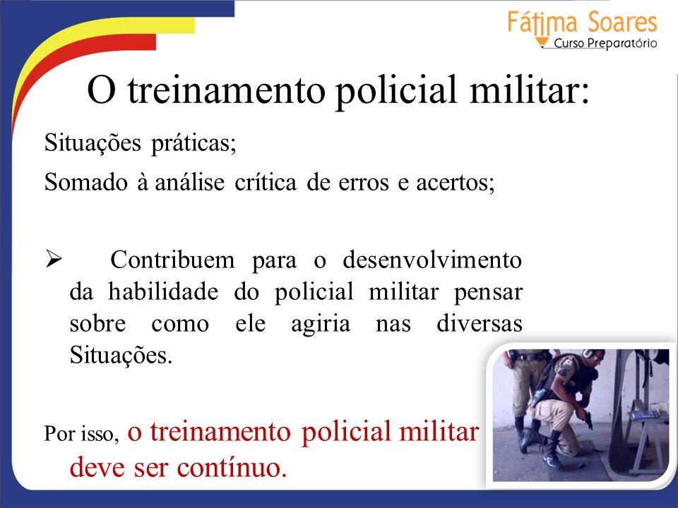 O treinamento policial militar: