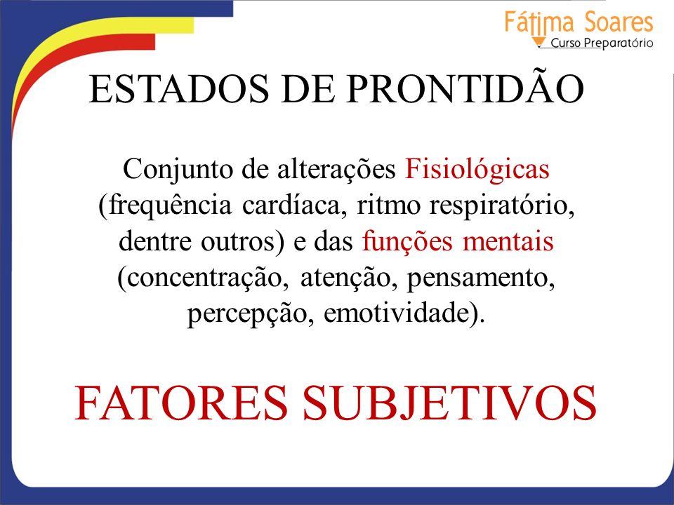 FATORES SUBJETIVOS ESTADOS DE PRONTIDÃO