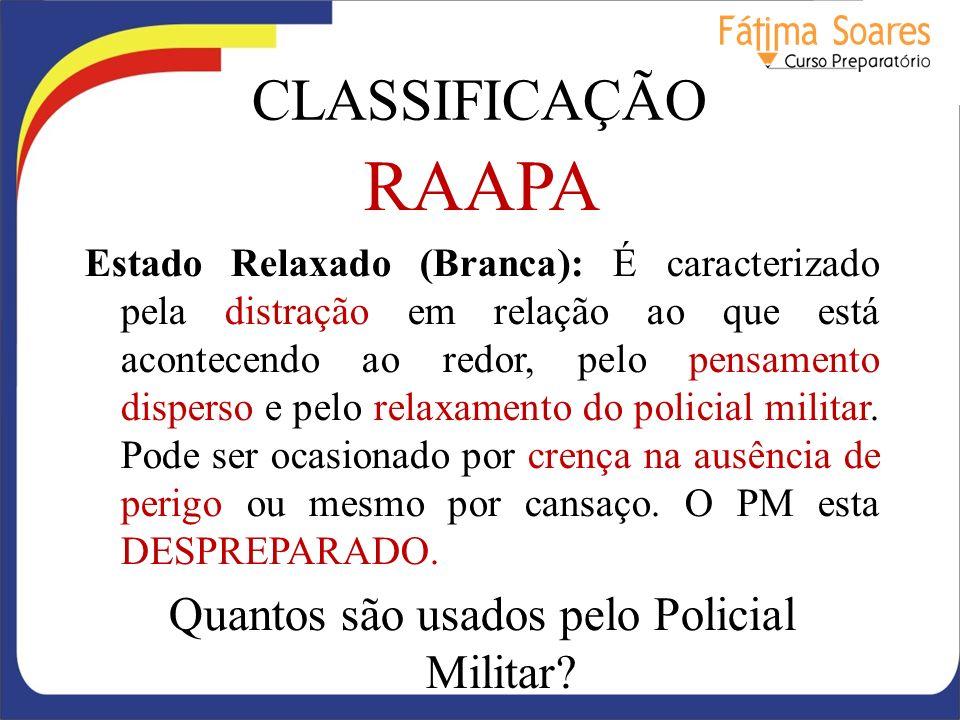 Quantos são usados pelo Policial Militar