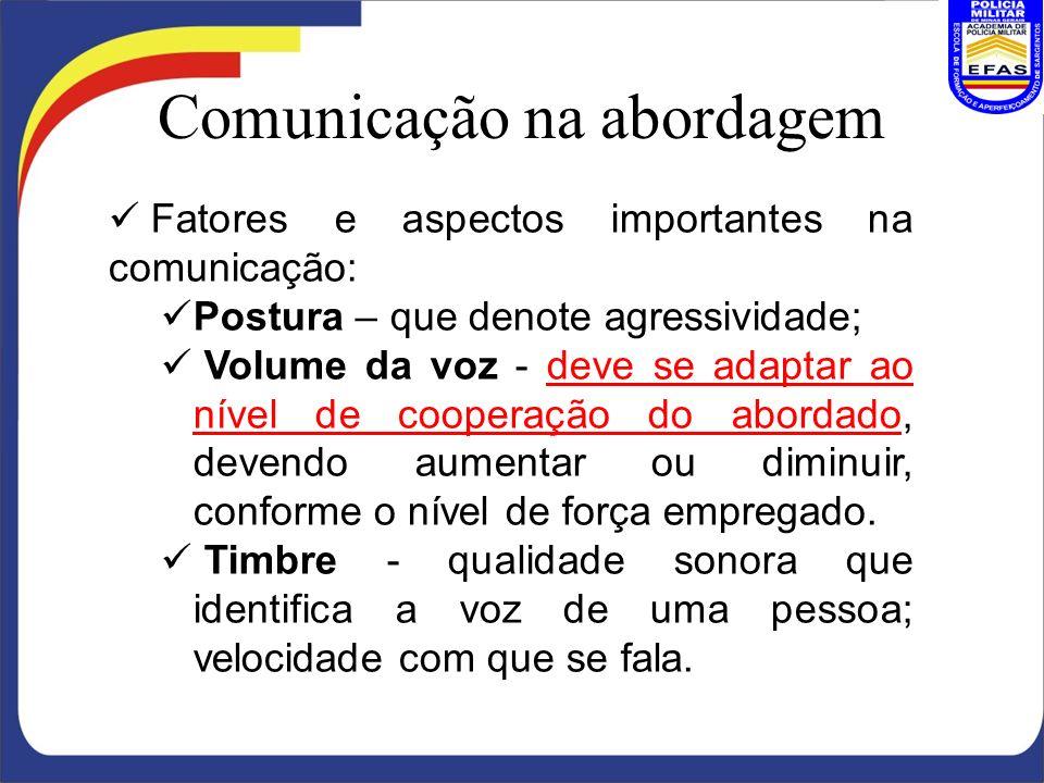 Comunicação na abordagem