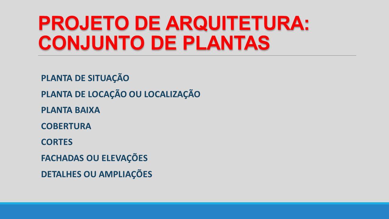 PROJETO DE ARQUITETURA: CONJUNTO DE PLANTAS