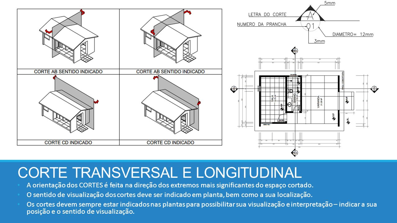 CORTE TRANSVERSAL E LONGITUDINAL