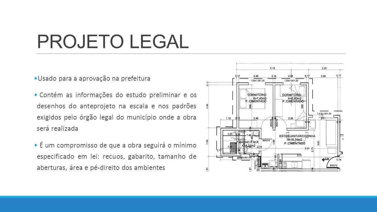 PROJETO LEGAL Usado para a aprovação na prefeitura