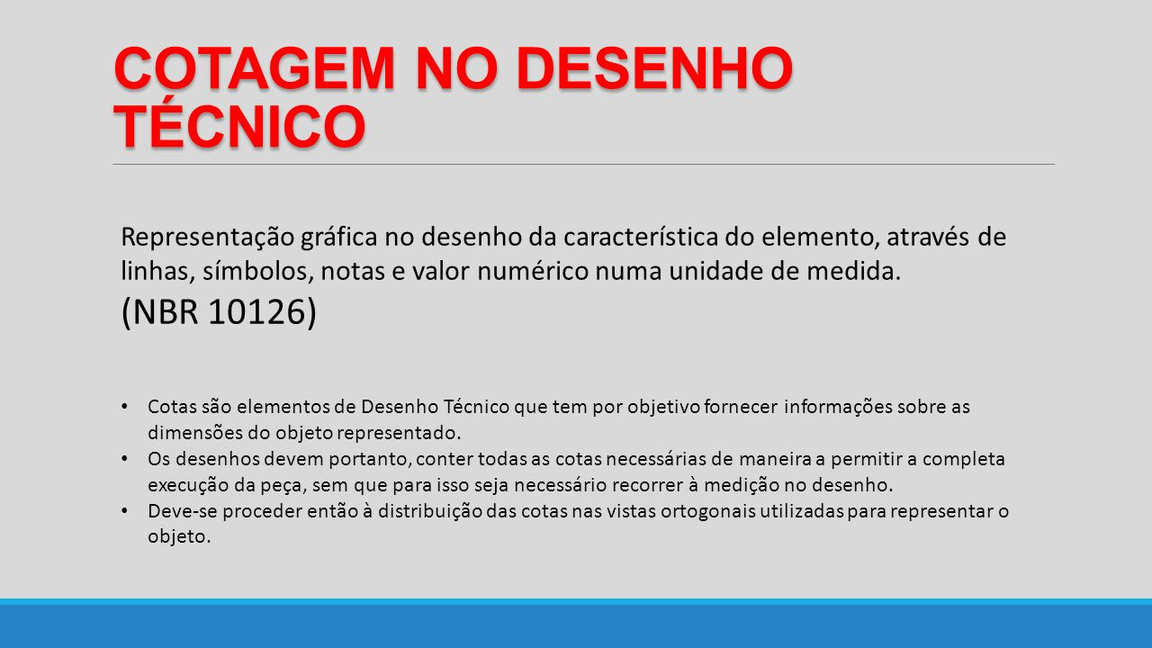 COTAGEM NO DESENHO TÉCNICO