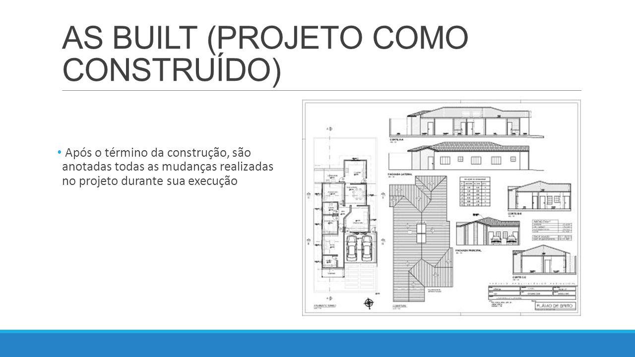 AS BUILT (PROJETO COMO CONSTRUÍDO)