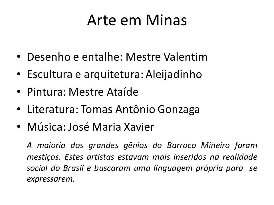 Arte em Minas Desenho e entalhe: Mestre Valentim