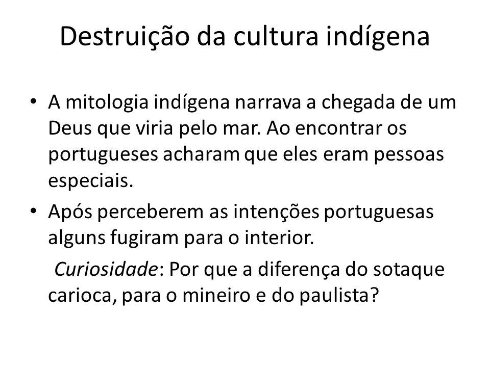 Destruição da cultura indígena