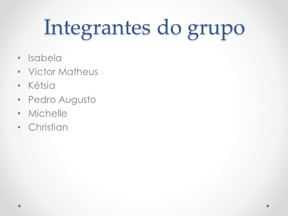 Integrantes do grupo Isabela Victor Matheus Kétsia Pedro Augusto